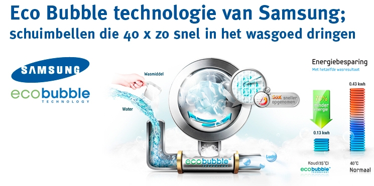 Samsung wf70f5e0q4w ecobubble wasmachine nu 368 - Technologie eco bubble ...